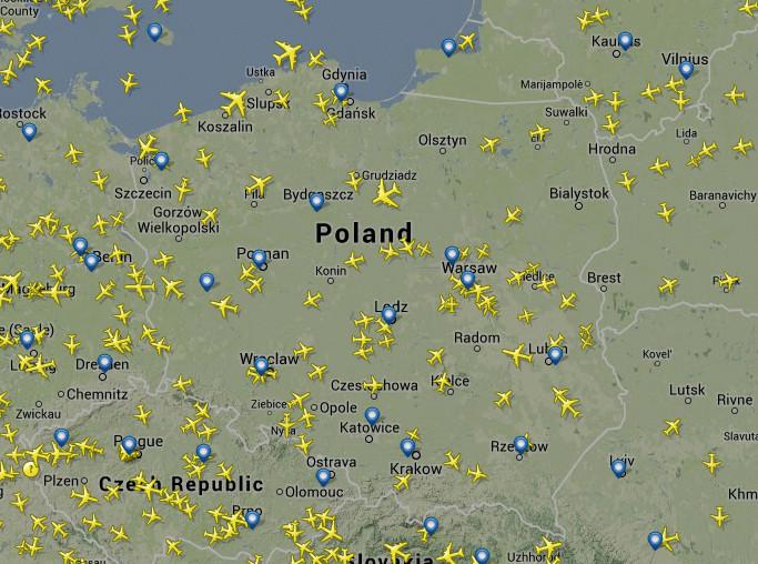 Ruch lotniczy nad Polską