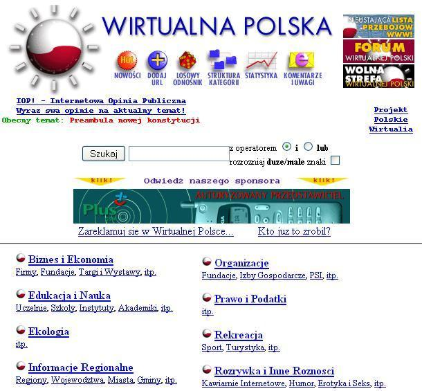 Wszystko co ważne dzieje się w Polsce... Wirtualnej Polsce. Rok 1996.